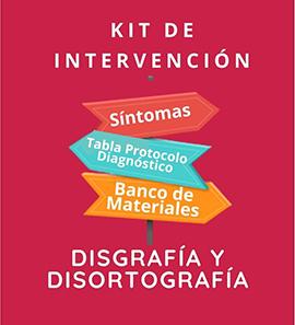 Kit de Intervención - Disgrafía disortografía